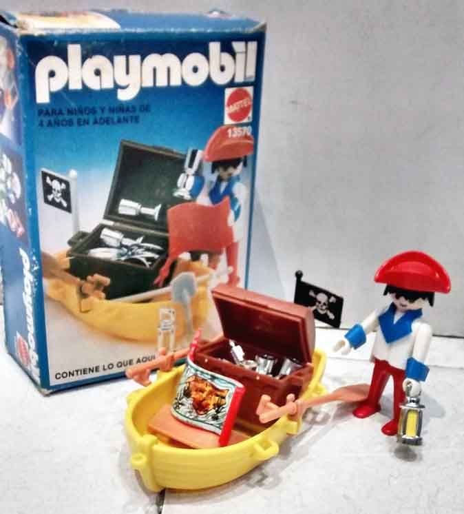 Playmobil 13570-xat - pirate with rowboat and treasure - Box