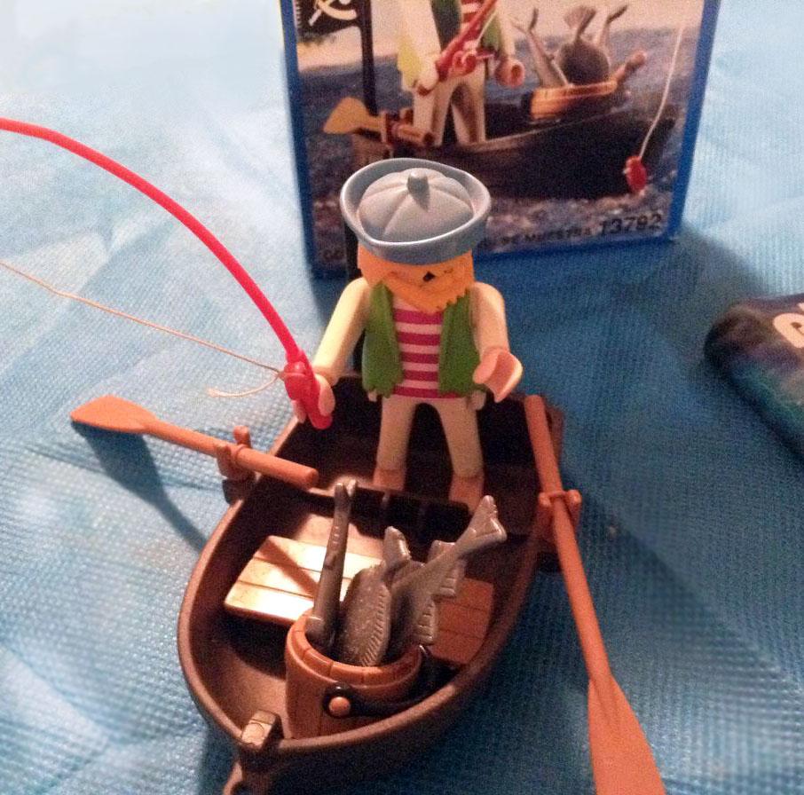 Playmobil 13792-aur - pirate fishing - Back