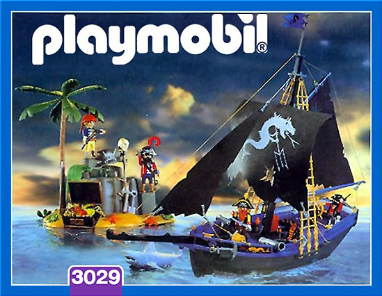 Playmobil 3029-esp - corsairs' black schooner - Box