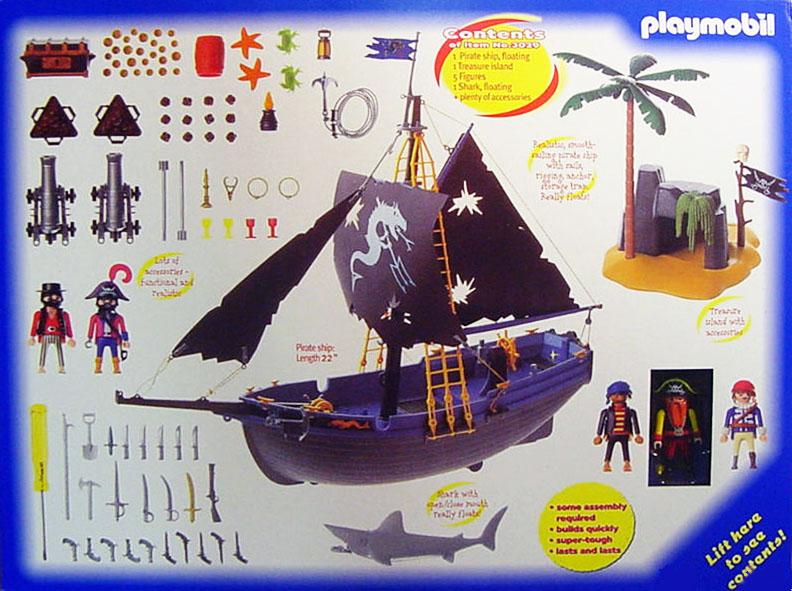 Playmobil 3029-usa - adventure set pirates - Back