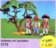 Playmobil 3113v2 - soldiers with pirate - Box