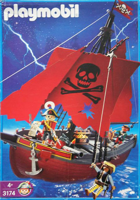 Playmobil 3174v1 - red pirateship - Boîte