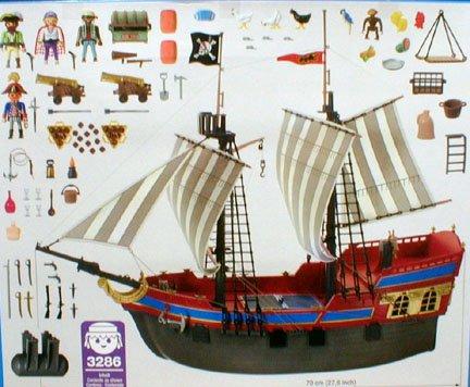 Playmobil 3286-usa - big pirate flagship - Back