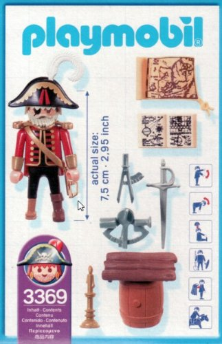 Playmobil 3369-usa - captain ene-eye - Back