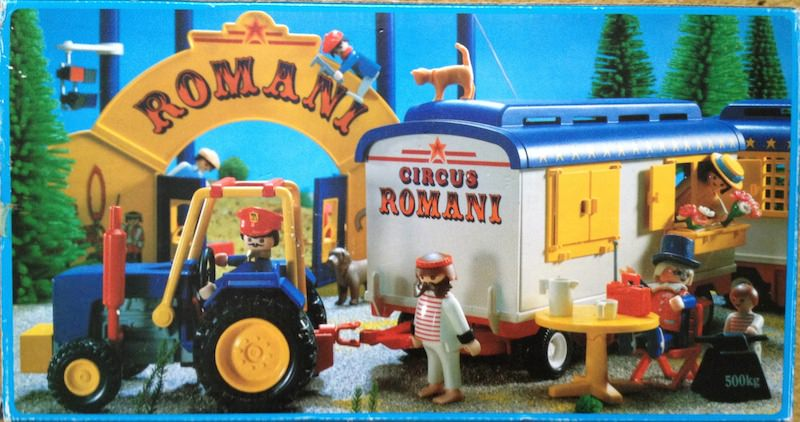 Playmobil 3728-esp - Strongman's Trailer - Back