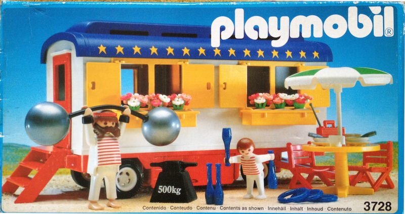 Playmobil 3728-esp - Strongman's Trailer - Box