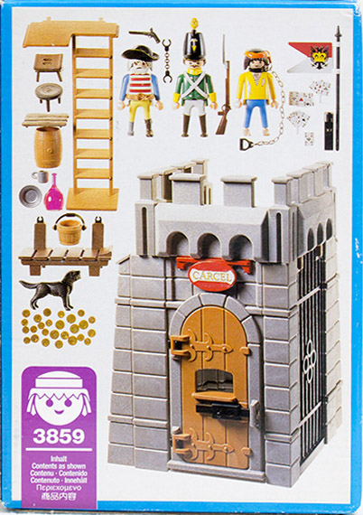 Playmobil 3859 - Pirates dungeon - Back