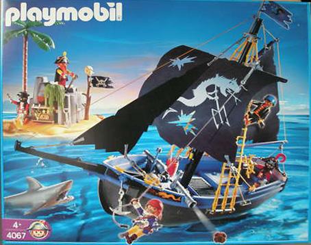 Playmobil 4067-ger - Black corsair schooner with island - Box
