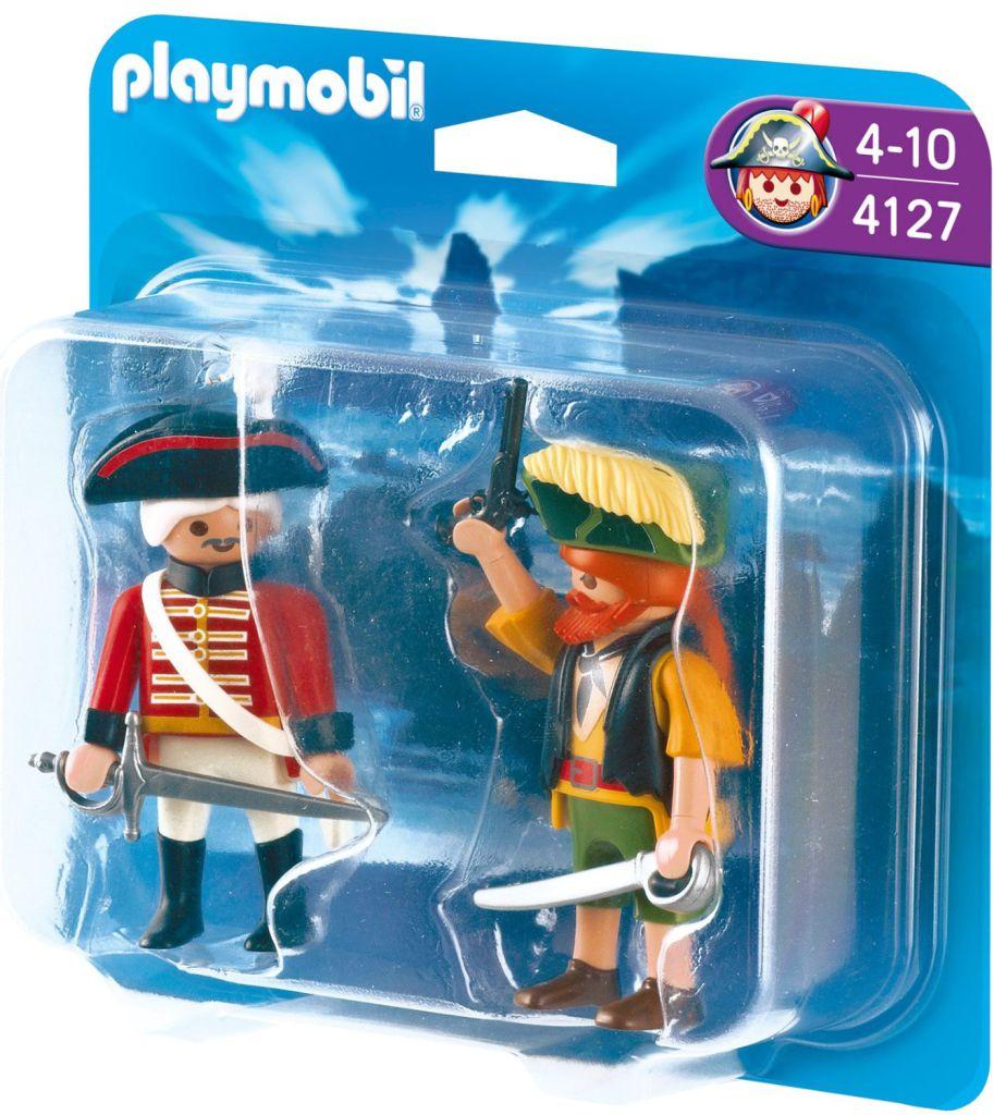 Playmobil 4127 - Duo Pack Pirate et Soldat - Boîte