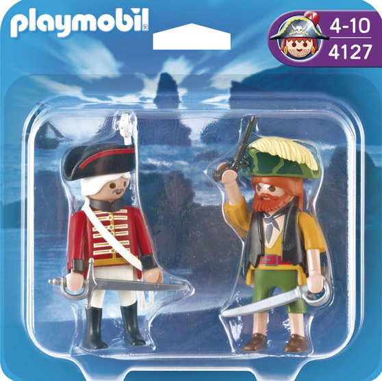Playmobil 4127 - Duo Pack Pirate and redcoat - Back