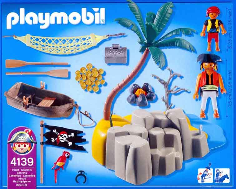 Playmobil 4139 - Kompaktset Pirateninsel - Zurück