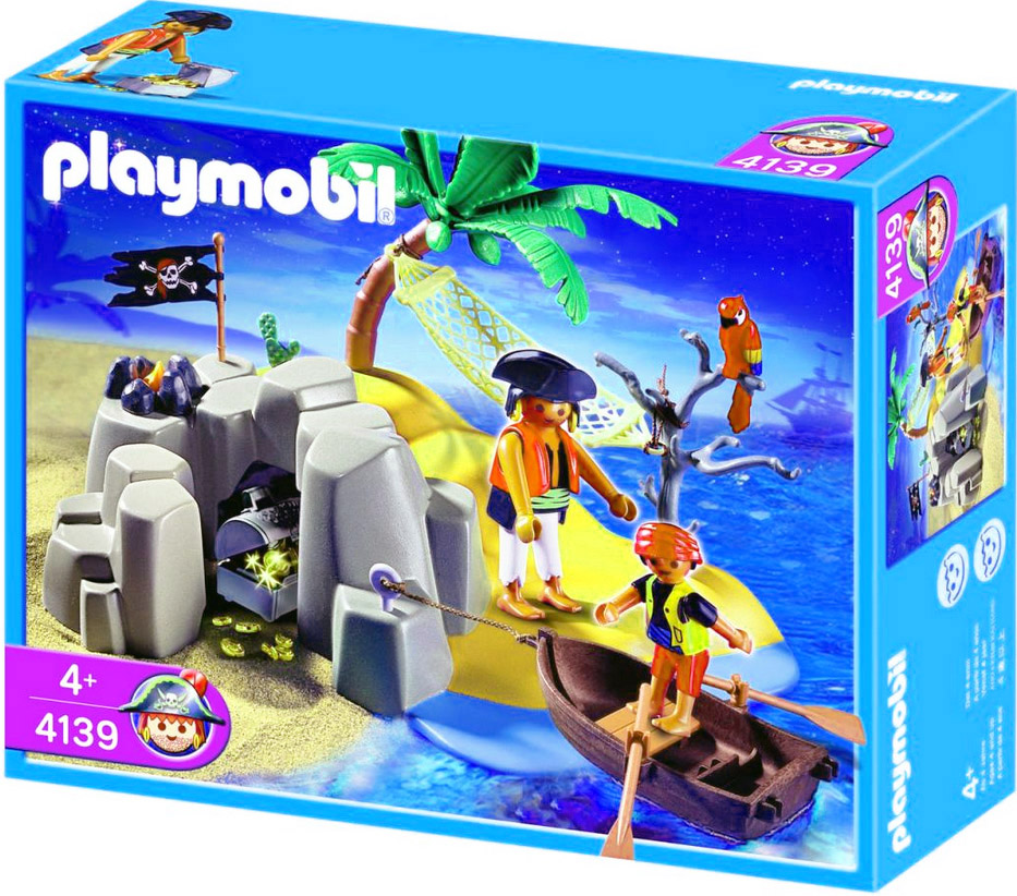 Playmobil 4139 - Kompaktset Pirateninsel - Box