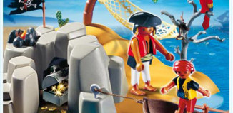 Playmobil - 4139 - Pirate island compact set