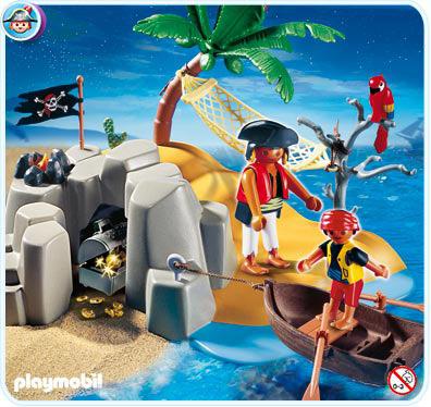 Playmobil Set 4139 Pirate Island Compact Set Klickypedia
