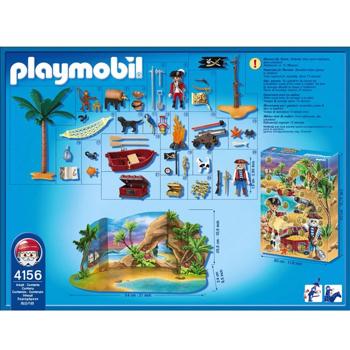 "Playmobil 4156v2 - Advent calendar ""pirates"" - Back"