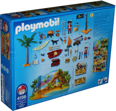 "Playmobil 4156-usa - advent calendar ""pirates"" - Back"