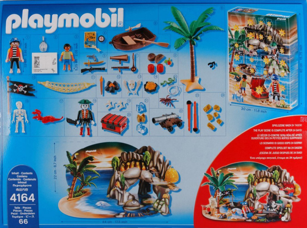 Playmobil 4164 - Advent calendar pirates treasure cave - Back