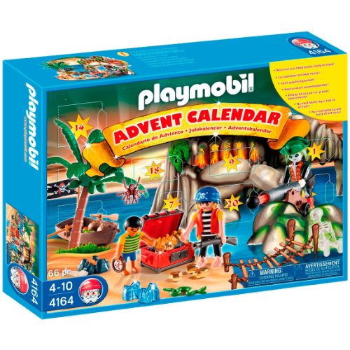 Playmobil 4164v2-usa - eng - advent calendar pirates treasure cave - Box