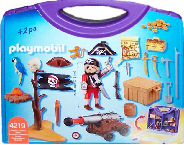 Playmobil 4219-usa - pirates' carrying case - Back