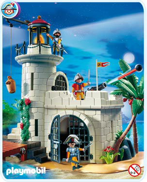Playmobil 4294v2 - Soldiers fortress with lighthouse - Back