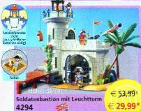 Playmobil 4294v2 - Soldiers fortress with lighthouse - Box