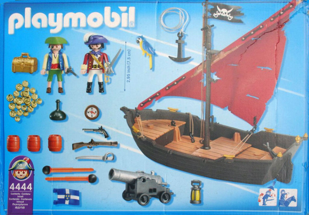 Playmobil 4444-usa - pirate dinghy - Back