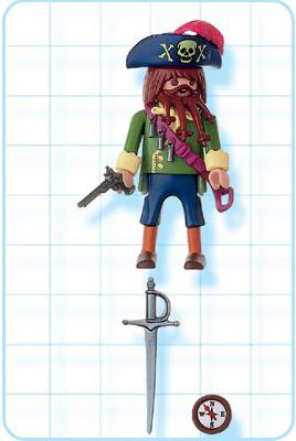 Playmobil 4654-usa - angry pirate - Back