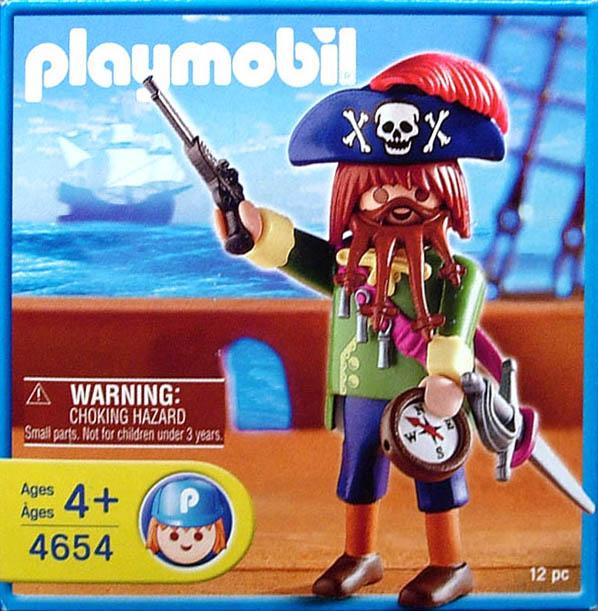 Playmobil 4654-usa - angry pirate - Box