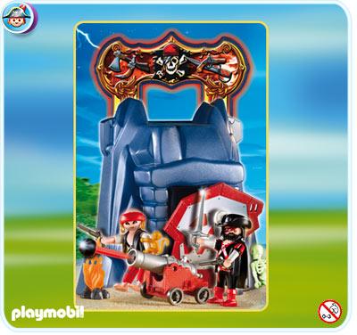 Playmobil 4776v2 - take along pirates' cliff - Back