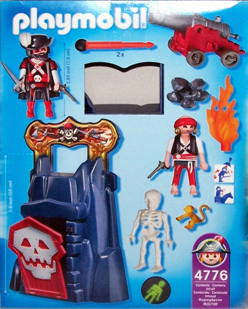 Playmobil 4776-usa - Take along dungeon - Back