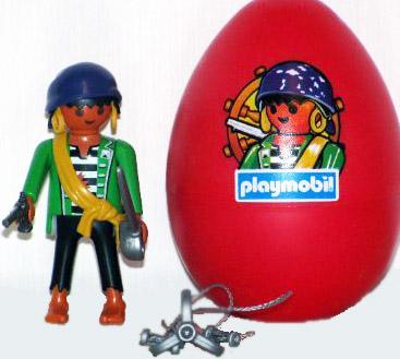 Playmobil 4919v1 - pirate red egg - Back
