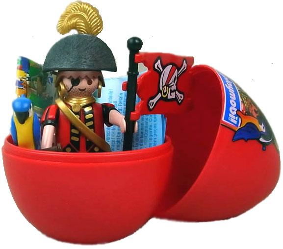Playmobil 4924v5-usa - peg-leg pirate egg - Back