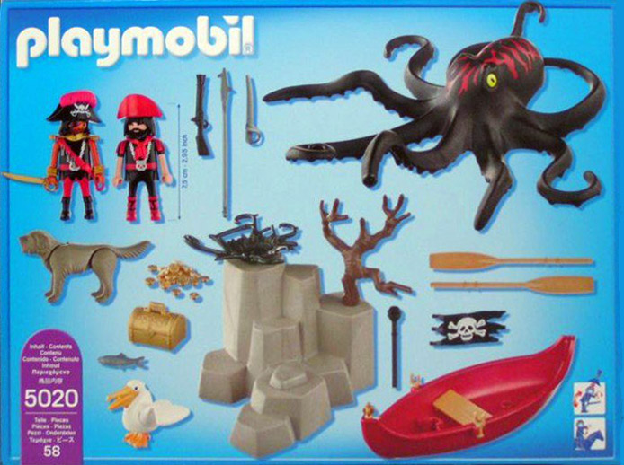 Playmobil 5020 - Giant Octopus with Pirates - Back