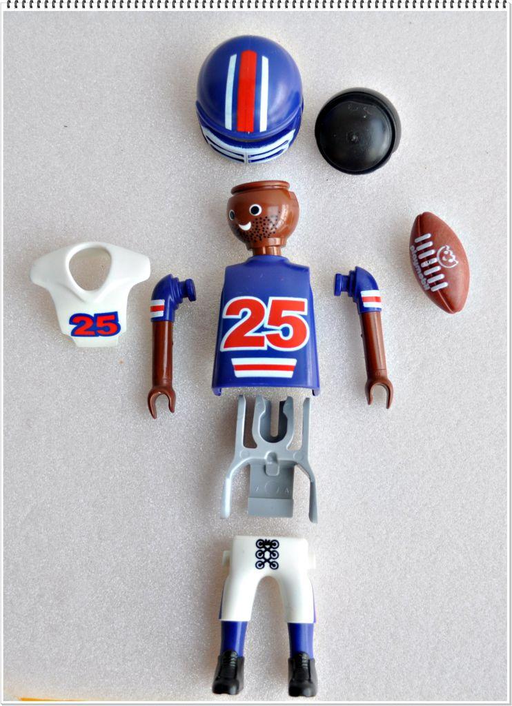 Playmobil 5596v12 - football player - Back