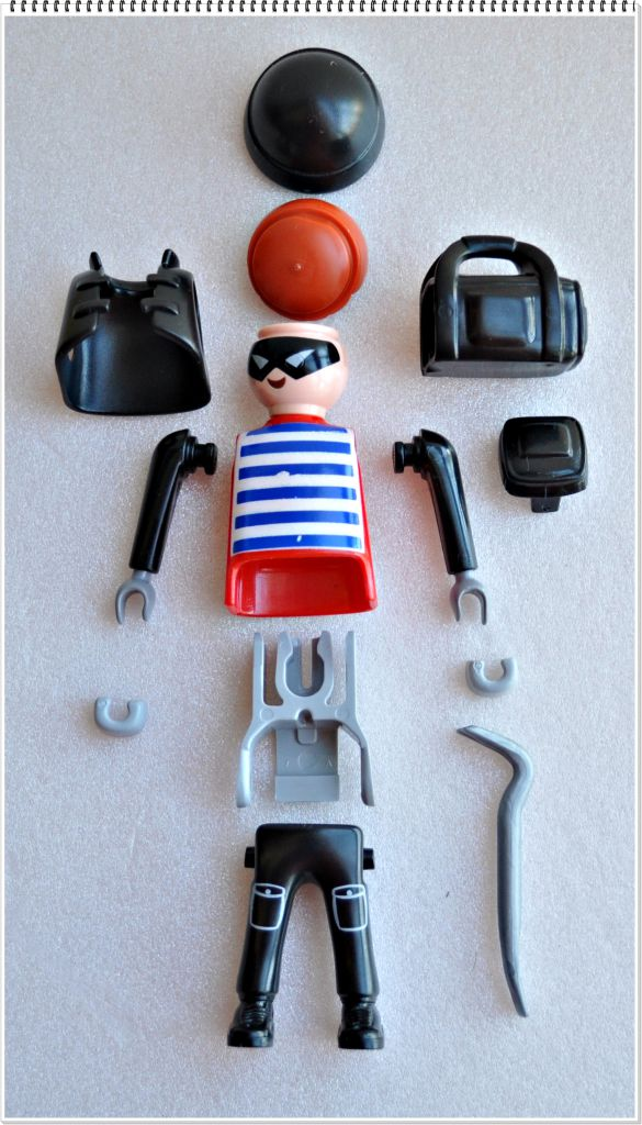Playmobil 5596v10 - Burglar with crowbar - Back