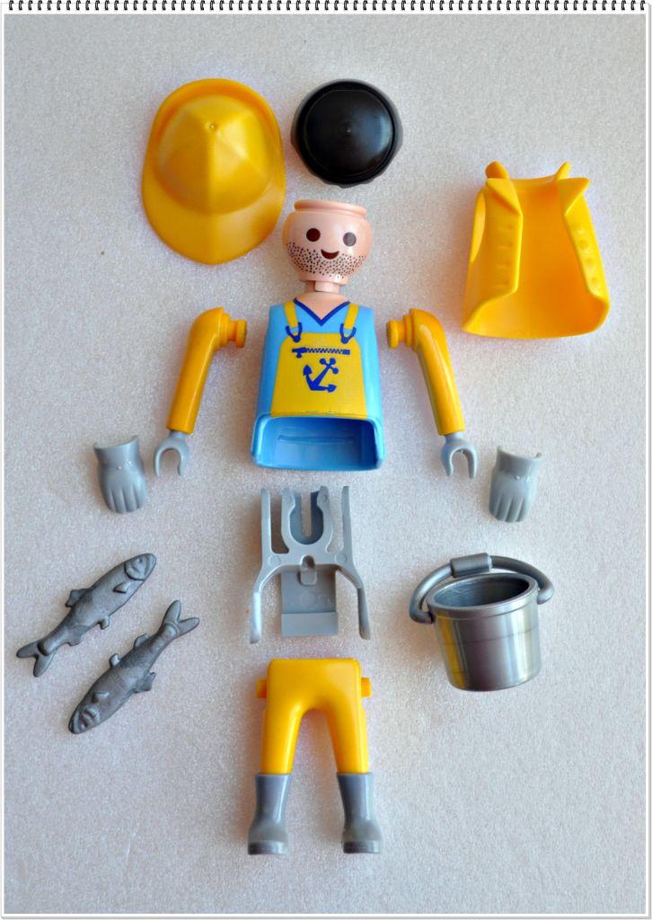 Playmobil 5596v3 - Fisherman - Back
