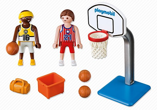 Playmobil 5630-usa - Carrying Case Basketball - Back