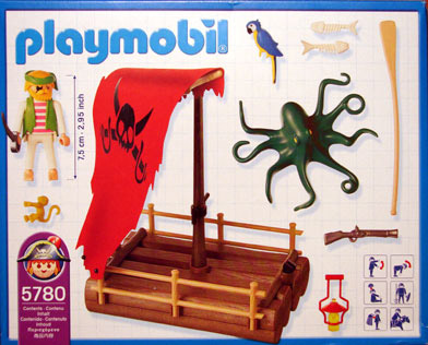 Playmobil 5780-usa - pirate raft - Back