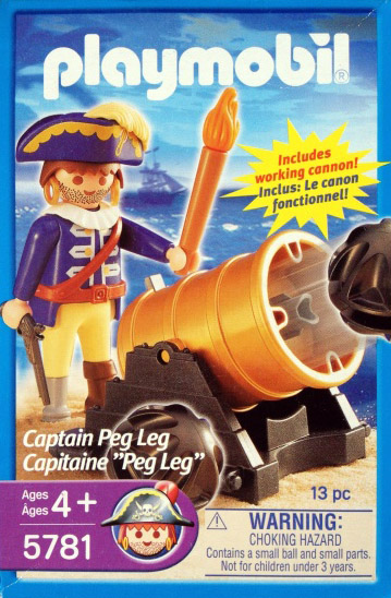 Playmobil 5781-usa - captain peg leg - Box