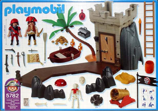 Playmobil 5782-usa - pirate's hideout - Back