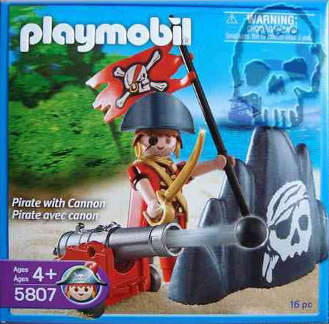 Playmobil 5807-usa - pirate with cannon - Box
