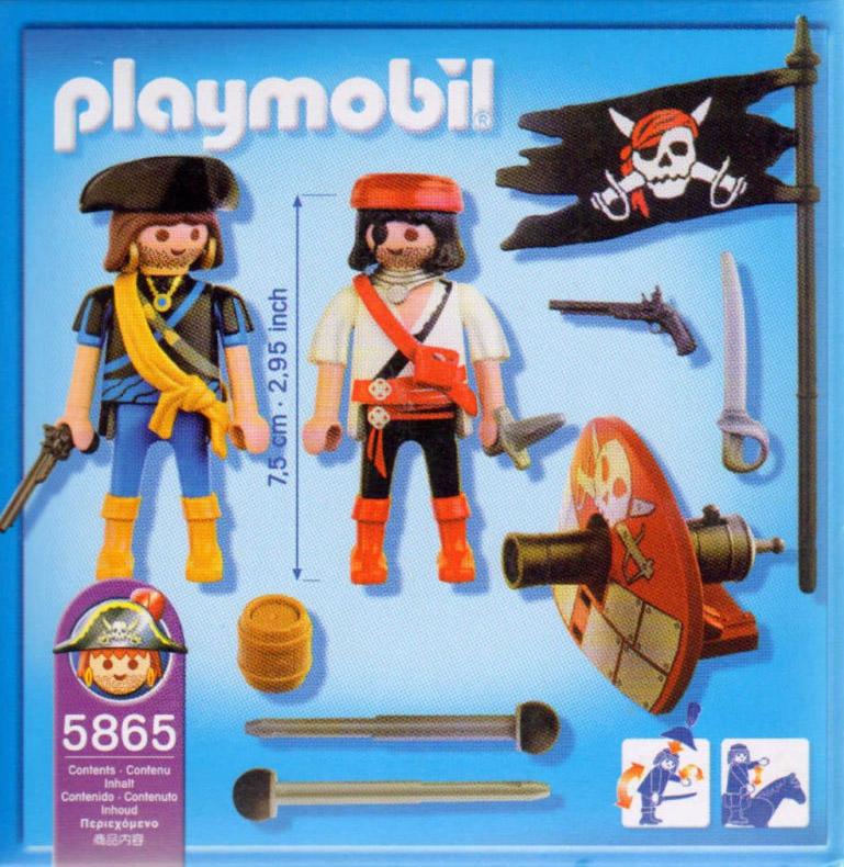 Playmobil 5865-usa - pirate miniset - Back