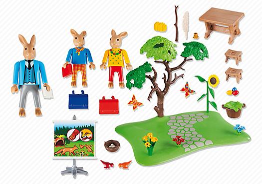 Playmobil 6173 - Easter Bunny school - Back