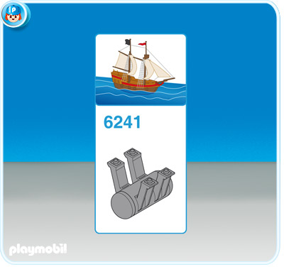 Playmobil 6241 - ballast weight for pirate ship - Back
