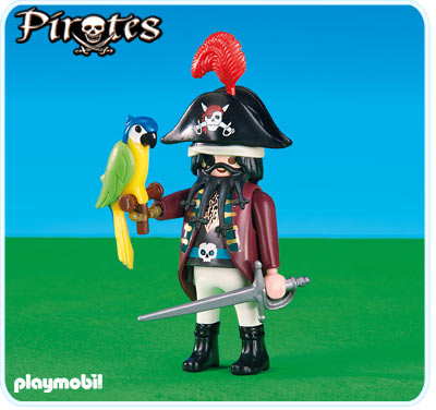 Playmobil 6289 - pirate captain with parrot - Box