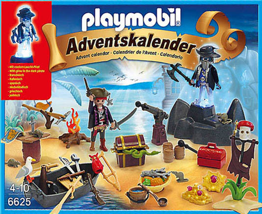 "Playmobil 6625 - advent calendar ""mysterious treasure island"" - Back"