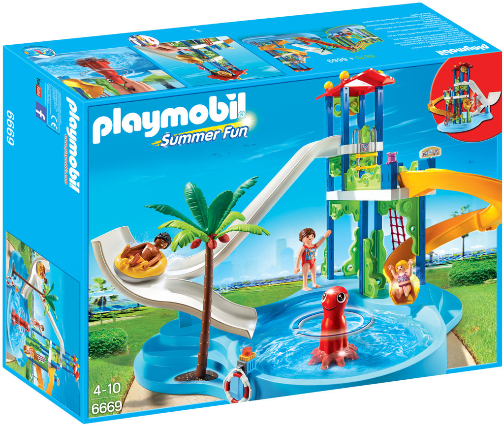 Playmobil 6669 - water park with slide tower - Box