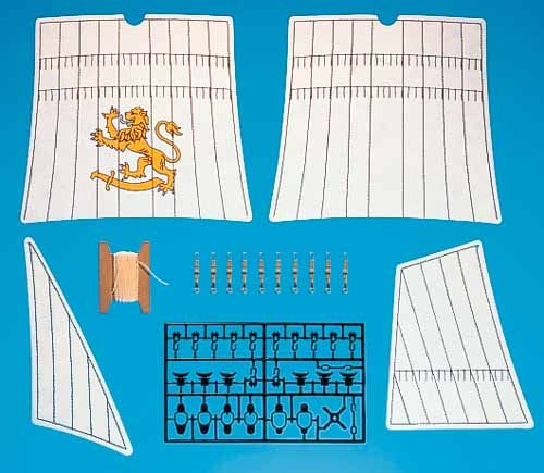 Playmobil 7310v2 - replacement sails for pirate ship (3750) - Box
