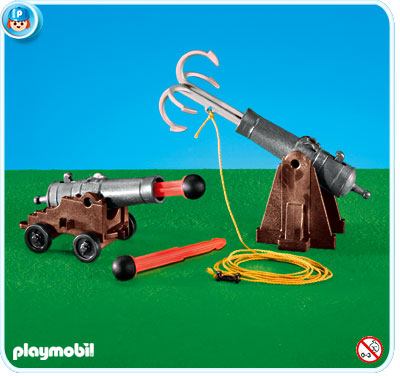 Playmobil 7373 - 2 cannons with a grappling hook - Box