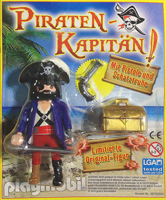 Playmobil 80541-ger - magazine nr. 27 / pirate figure - Back
